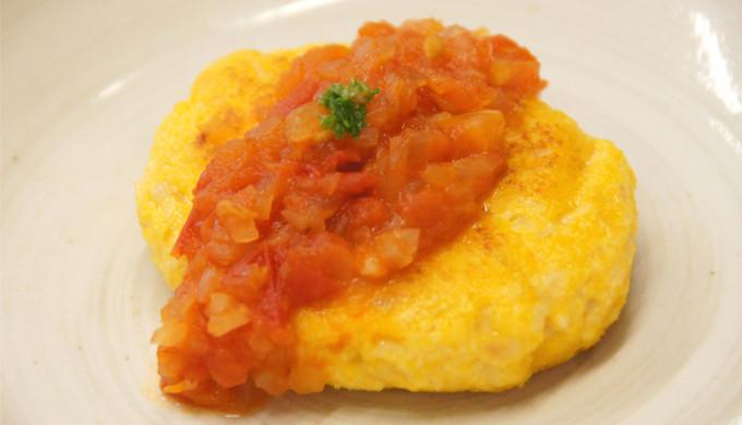 【レシピ】豆腐のオムレツ・トマトソース